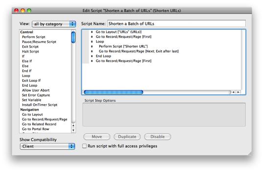 Shortening URLs using FileMaker | HomeBase Software