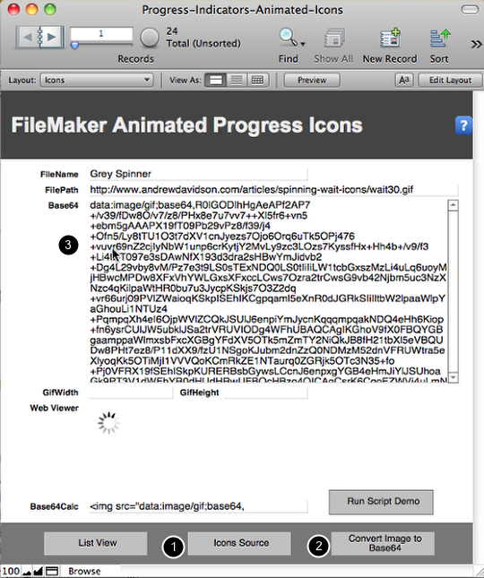 FileMaker Progress Indicators using a Web Viewer and Animated GIFs (1/6)