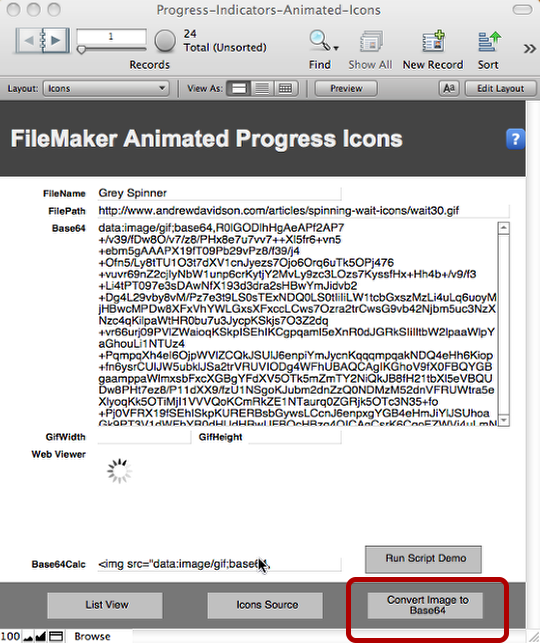 FileMaker Progress Indicators using a Web Viewer and Animated GIFs (4/6)