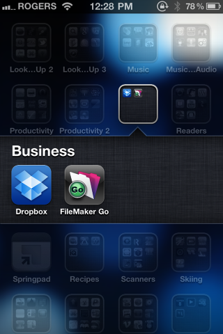 Getting FileMaker Go databases onto an iOS device using Dropbox (2/6)