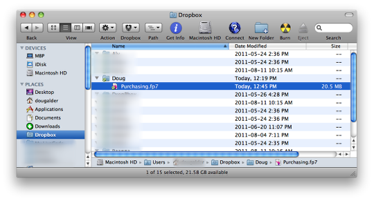 Getting FileMaker Go databases onto an iOS device using Dropbox (3/6)