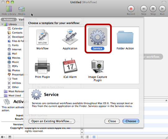 Move Selected Files into a New Folder using AppleScript and Automator (2/6)