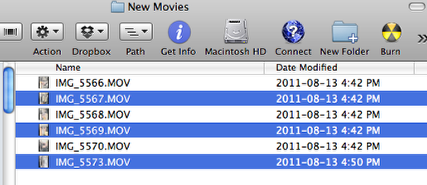 Move Selected Files into a New Folder using AppleScript and Automator (5/6)