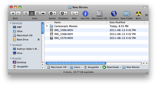 how to move files into a folder mac
