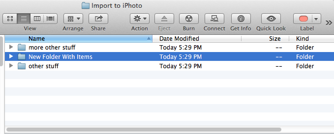 how to move folders into a locked folder in mac