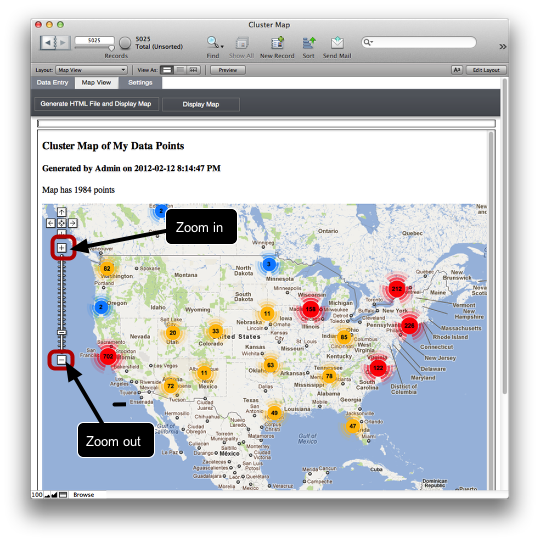 Creating Google Cluster Maps from FileMaker (2/6)