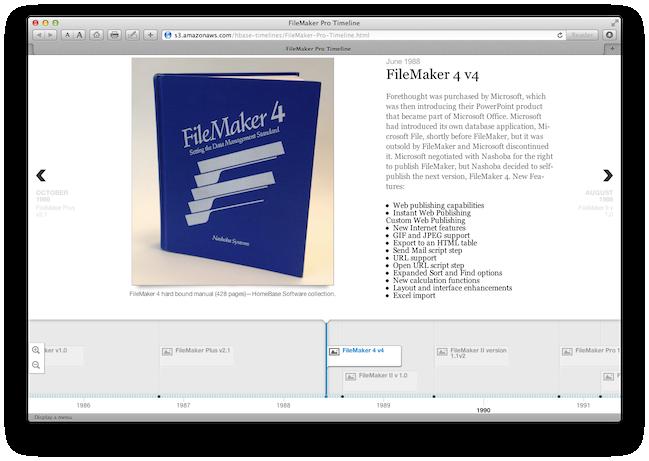 FileMaker Timeline