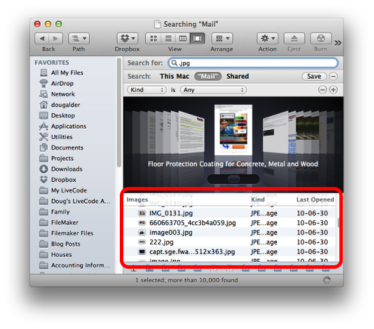 How to find lost image files in your Mac Mail folder (5/6)
