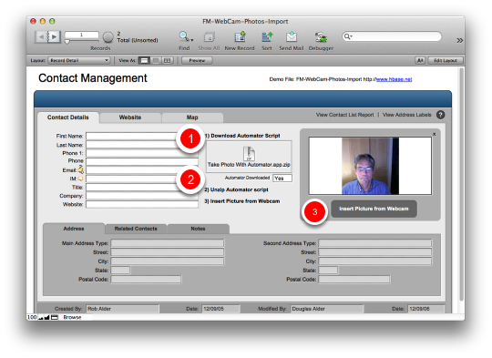 How to Automate Webcam Photo Capture Within Filemaker Pro (Mac) (2/6)