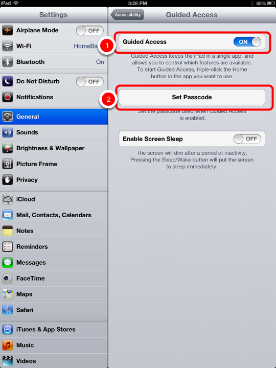 Guided Access—Kiosk Mode for FileMaker Go on the iPhone or iPad (6/6)