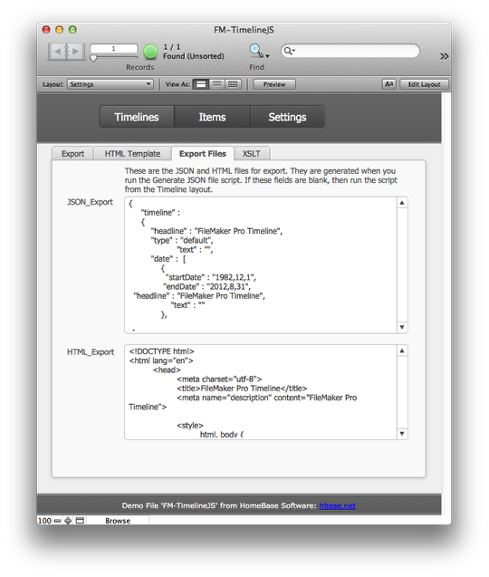 Creating Timelines for the web in FileMaker using TimelineJS