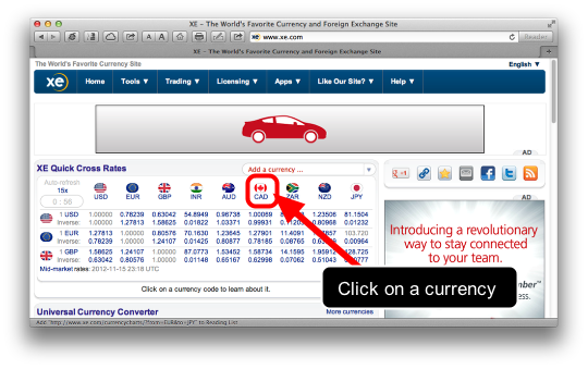Getting Foreign Exchange Rates into FileMaker (1/6)