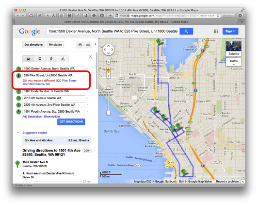 Mapping Directions from FileMaker Pro with Google Maps – Maps Google Com Driving Directions