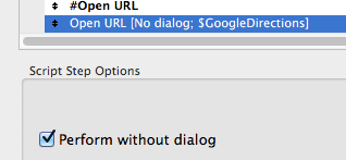 Turn Off Perform without dialog