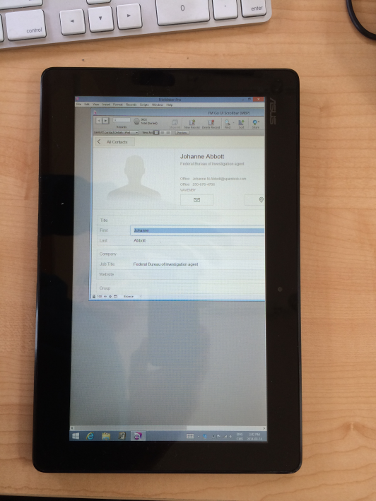 FileMaker Development on a Windows 8 Tablet | HomeBase Software