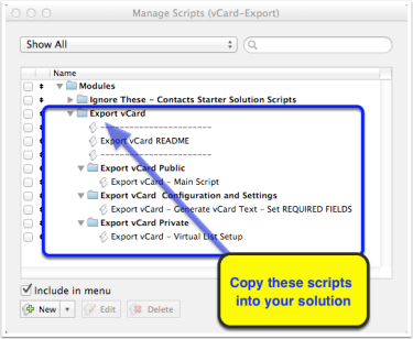 Exporting vCards from FileMaker Pro   HomeBase Software