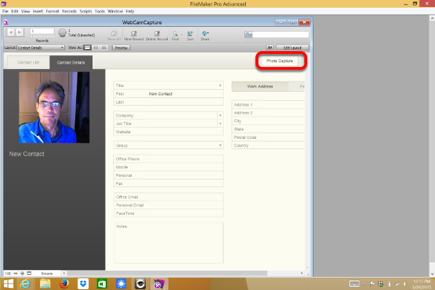 Automating Webcam Photo Capture within FileMaker (Windows