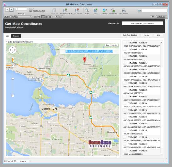 Click, Display, Capture – Google Map Longitude & Latitude into