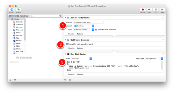 How to Automate Saving the First Page of a Batch of PDFs as