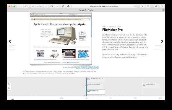 FileMaker Timeline   HomeBase Software