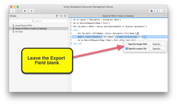 Deleting Files from Your Computer Using Native FileMaker Pro